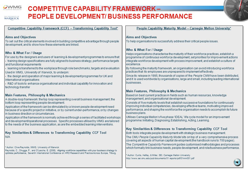 WMG TRANSFORMING CAPABILITY TOOLSET - ppt download