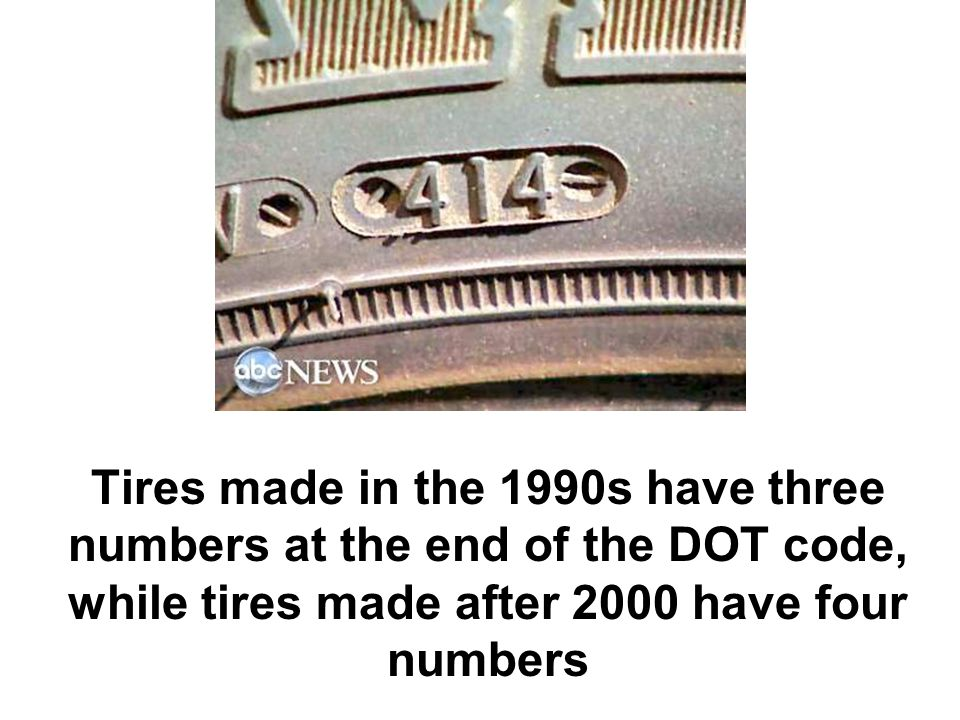 Dot Tire Codes Before 2000