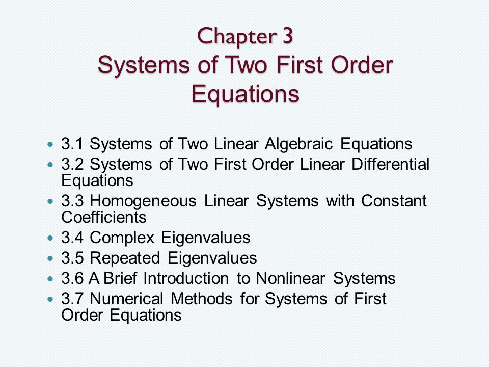 Differential Equations - ppt video online download