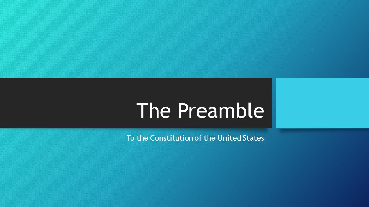 To the Constitution of the United States