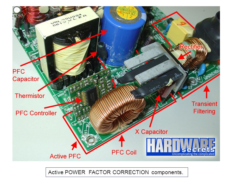 Active POWER FACTOR CORRECTION components.