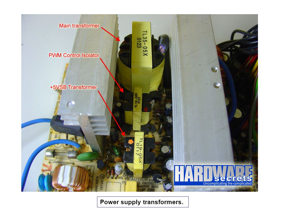 Power supply transformers.