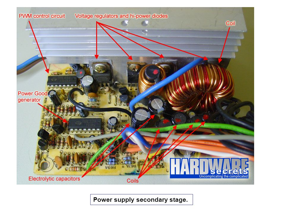 Power supply secondary stage.