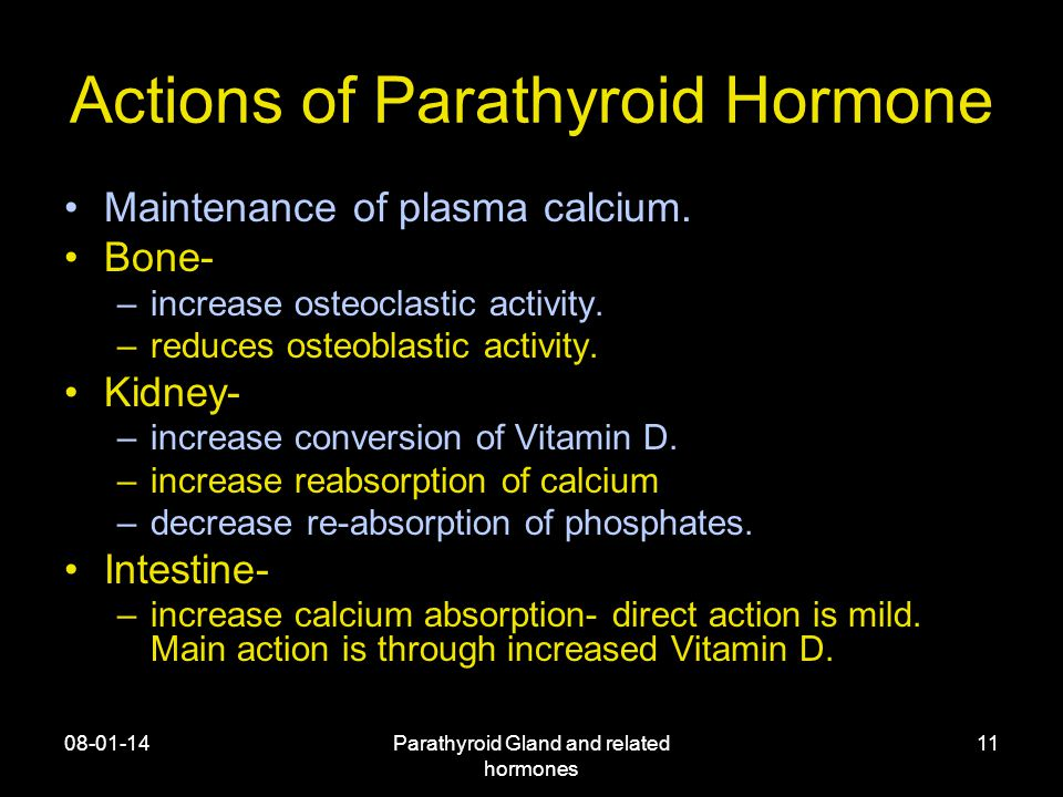 Actions of Parathyroid Hormone
