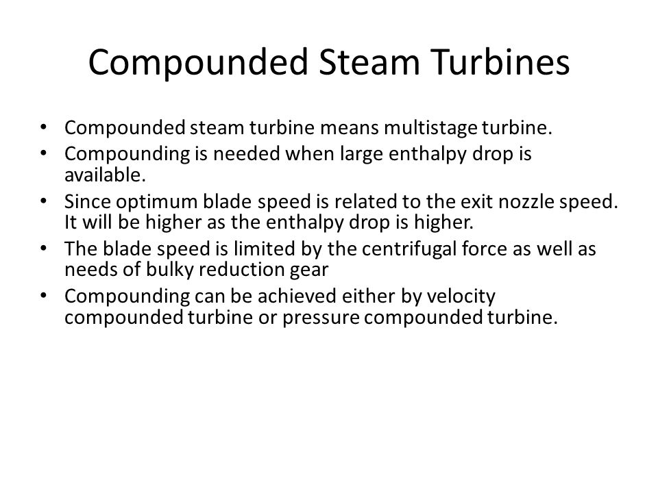 compounding of turbine