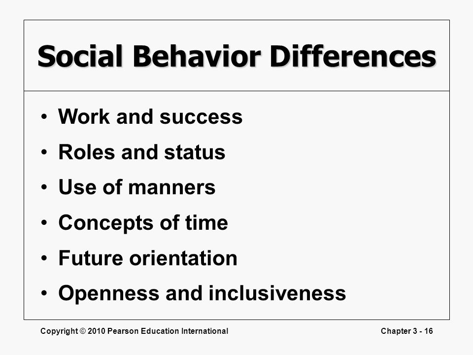 Social Behavior Differences