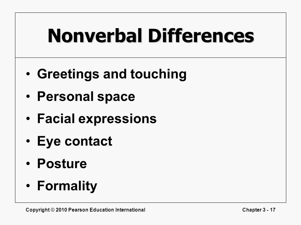 Nonverbal Differences