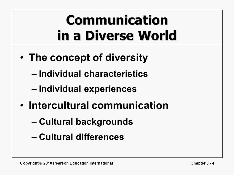 Communication in a Diverse World
