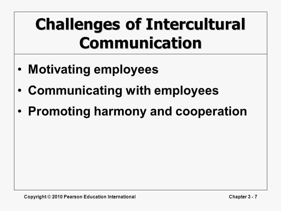 Challenges of Intercultural Communication