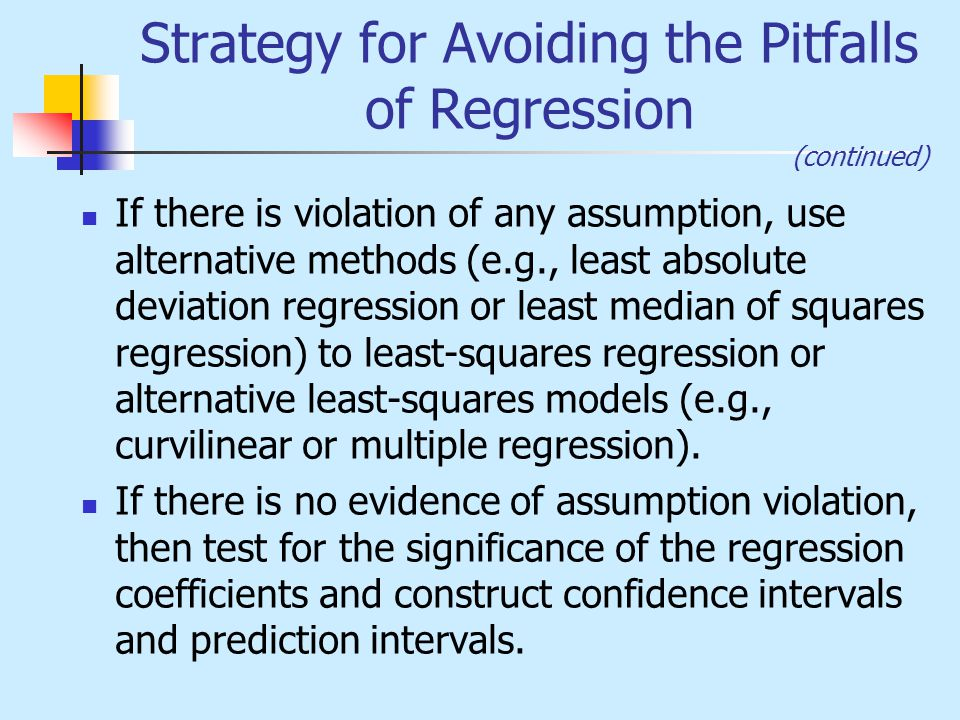Strategy for Avoiding the Pitfalls of Regression