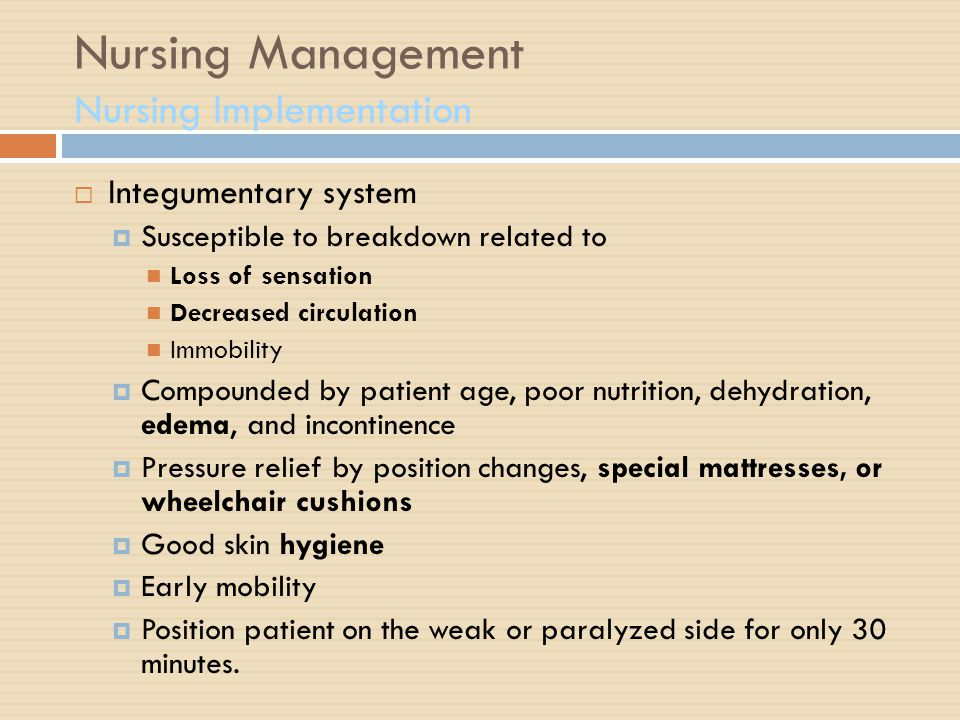 Stroke Nursing Management Ppt Download