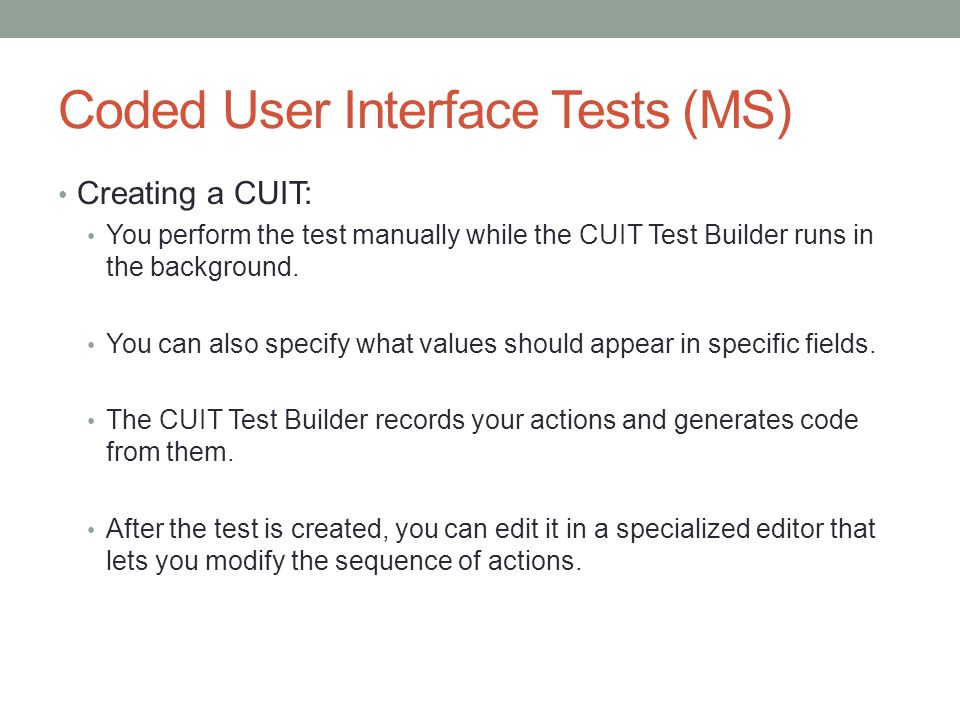 USER INTERfACE TESTING - ppt download