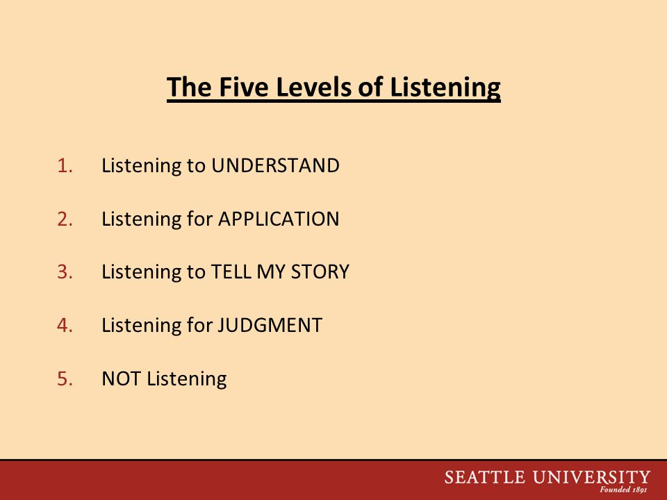 The Five Levels of Listening