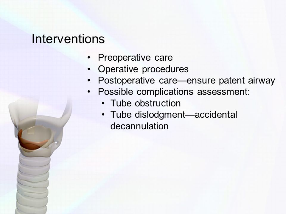 Interventions Preoperative care Operative procedures
