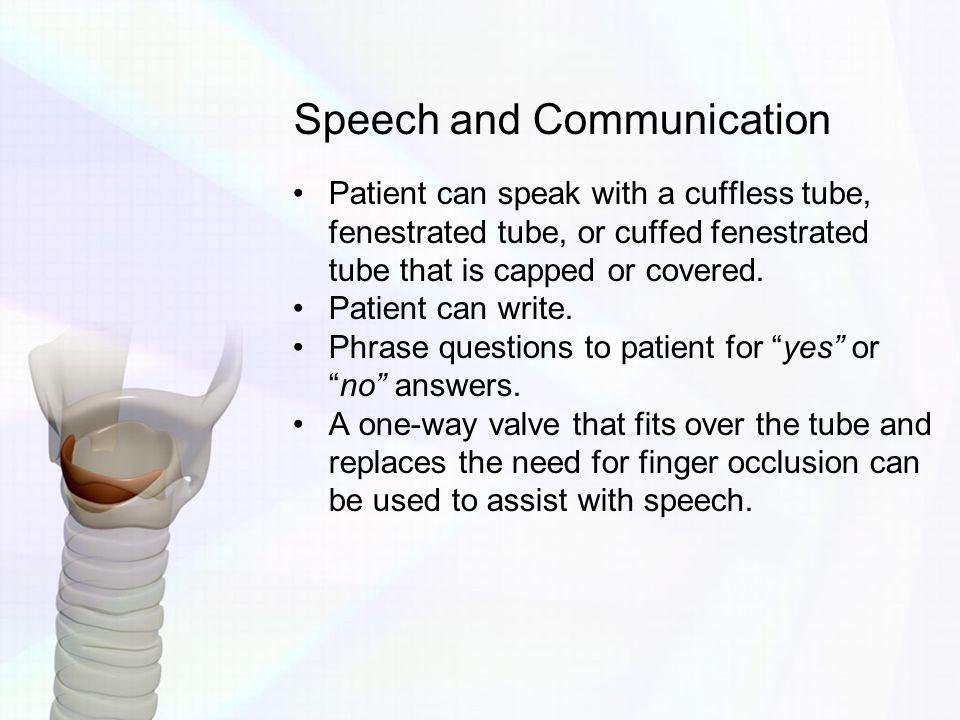 Speech and Communication