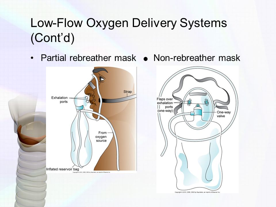 Low-Flow Oxygen Delivery Systems (Cont'd)