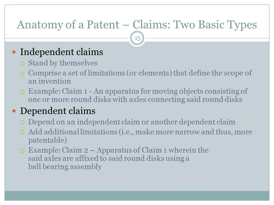 Anatomy of a Patent – Claims: Two Basic Types