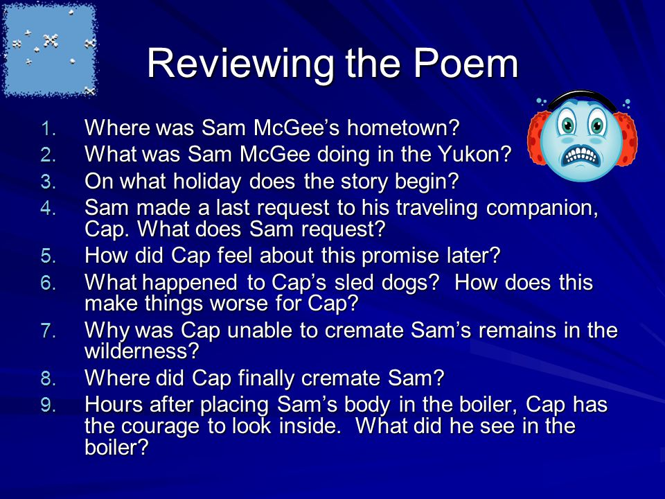 sam mcgee poem text