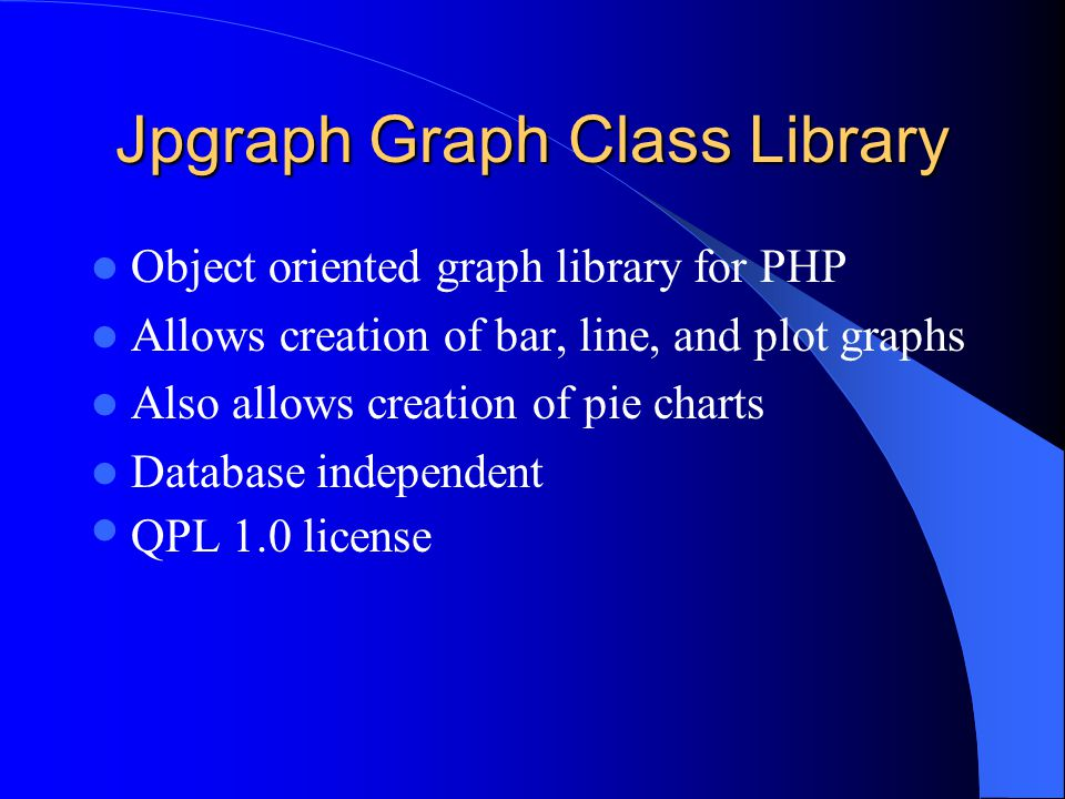 Jpgraph create graph, charts, plots in php.