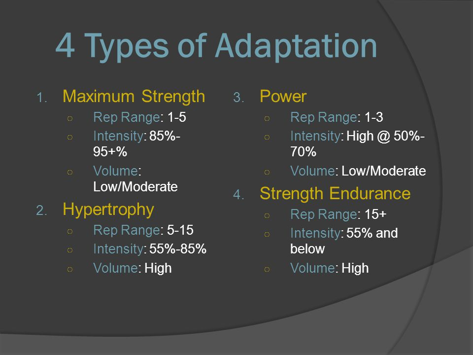 Muscle adaptation & training goals - ppt video online download