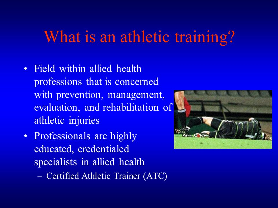 What is an athletic training