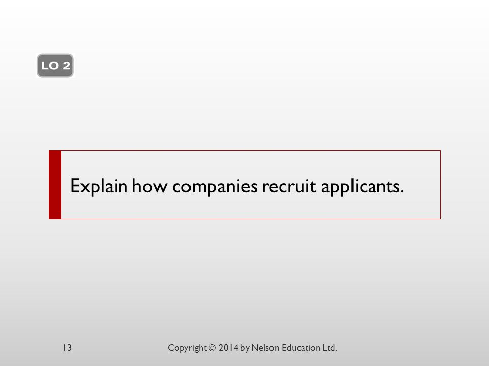 Explain how companies recruit applicants.