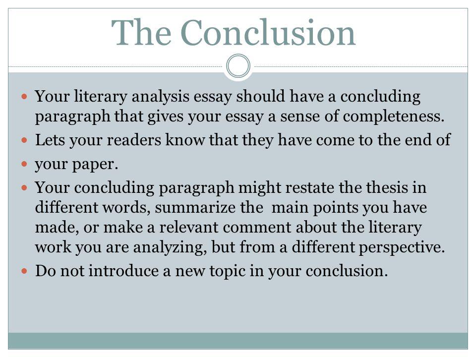 literary analysis thesis
