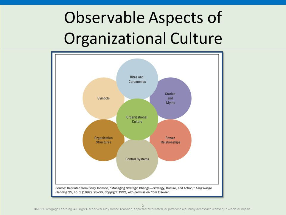 Observable Aspects of Organizational Culture