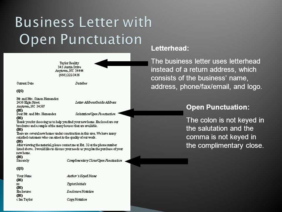 Memorandums and letters ppt video online download business letter with open punctuation spiritdancerdesigns Image collections
