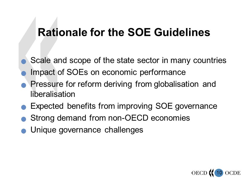 Rationale for the SOE Guidelines