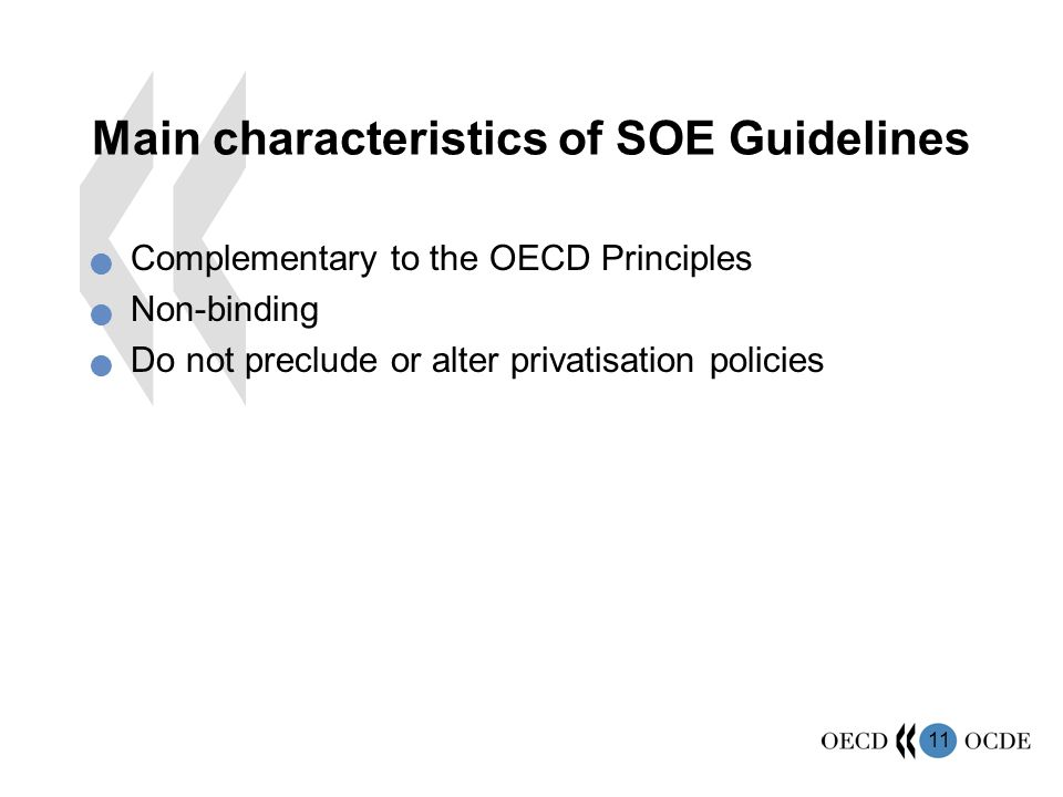 Main characteristics of SOE Guidelines