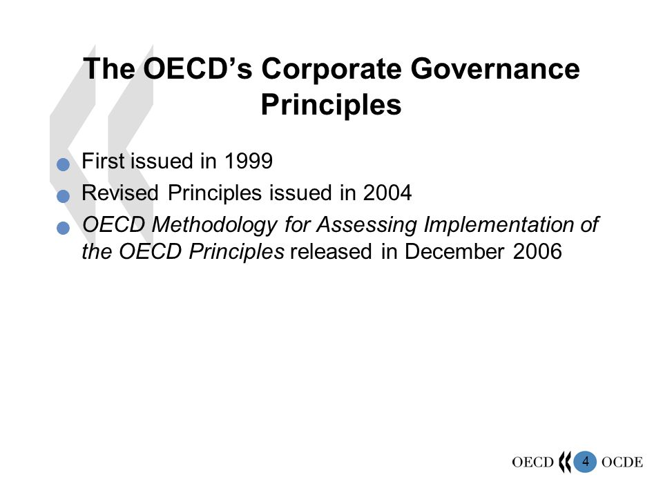 The OECD's Corporate Governance Principles