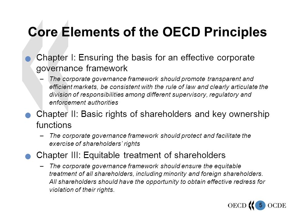 Core Elements of the OECD Principles
