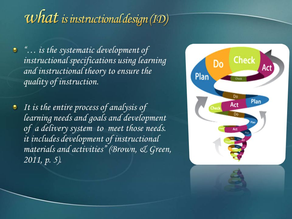 Tutorial Of Instructional Design Ppt Download