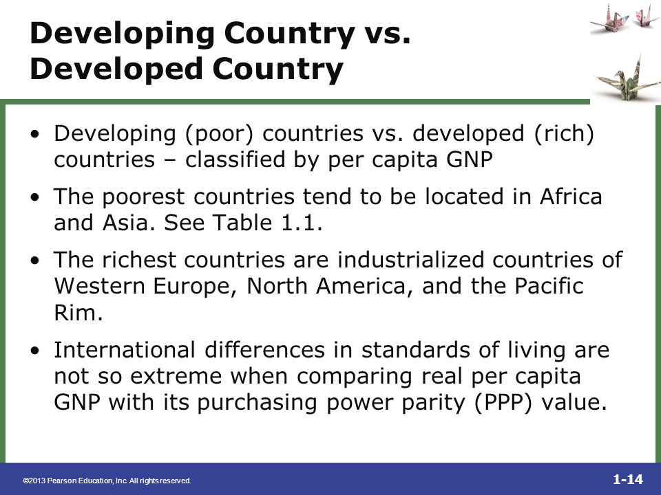 Developing Country vs. Developed Country