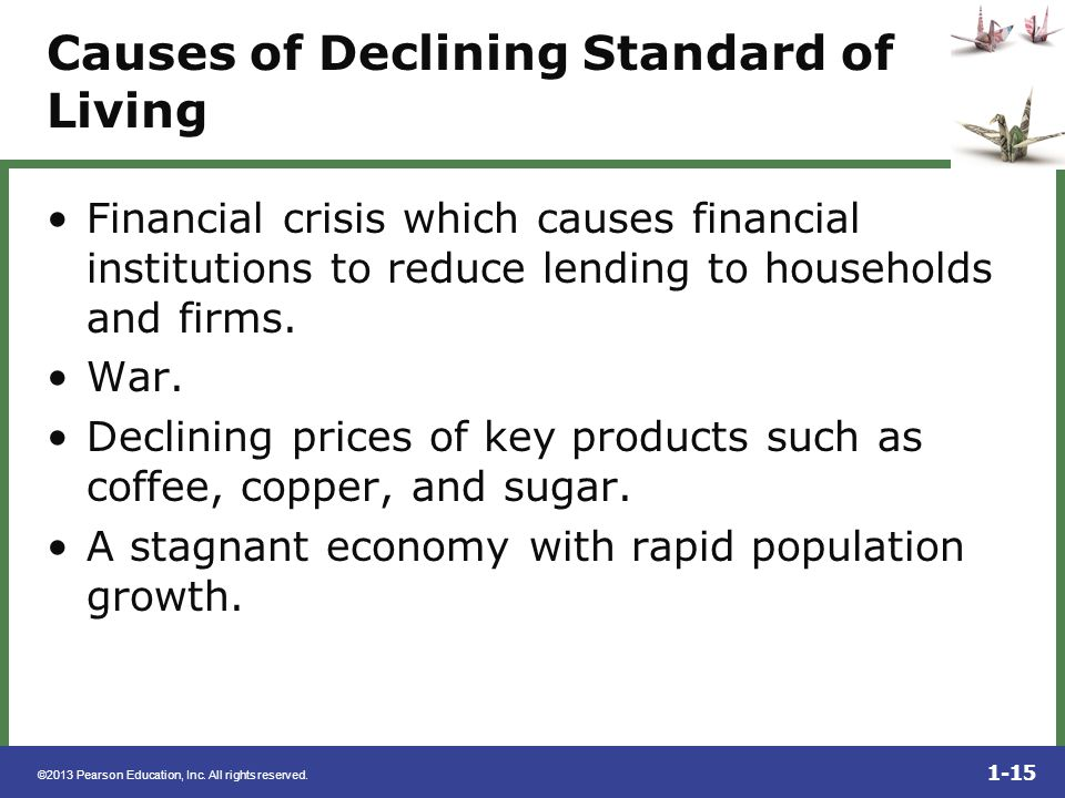 Causes of Declining Standard of Living
