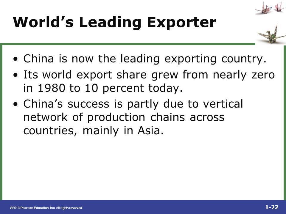 World's Leading Exporter