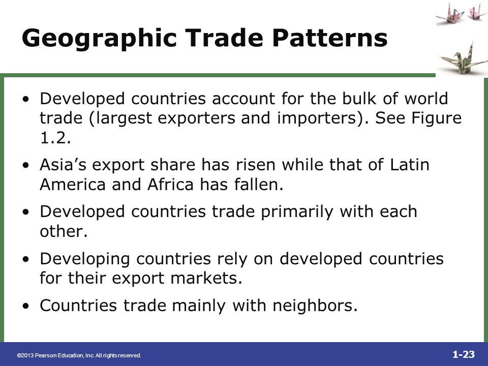 Geographic Trade Patterns