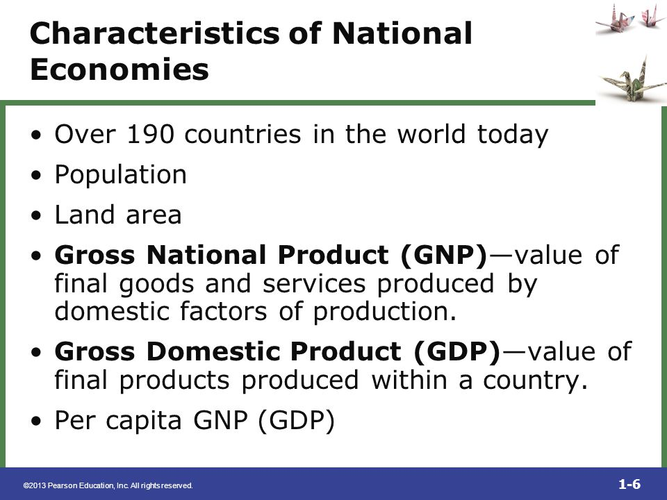Characteristics of National Economies