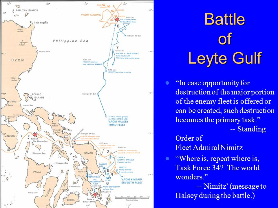 why did the battle of leyte gulf happen