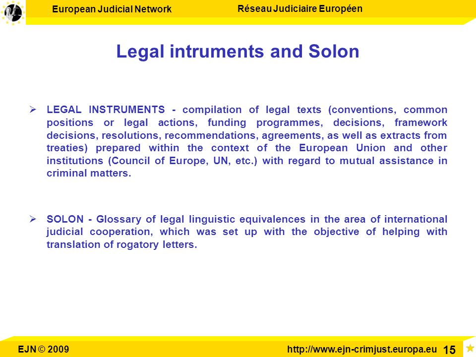 Legal intruments and Solon