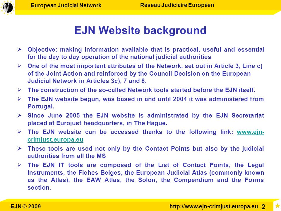 EJN Website background