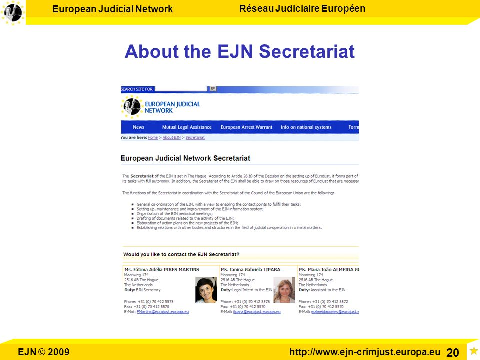 About the EJN Secretariat