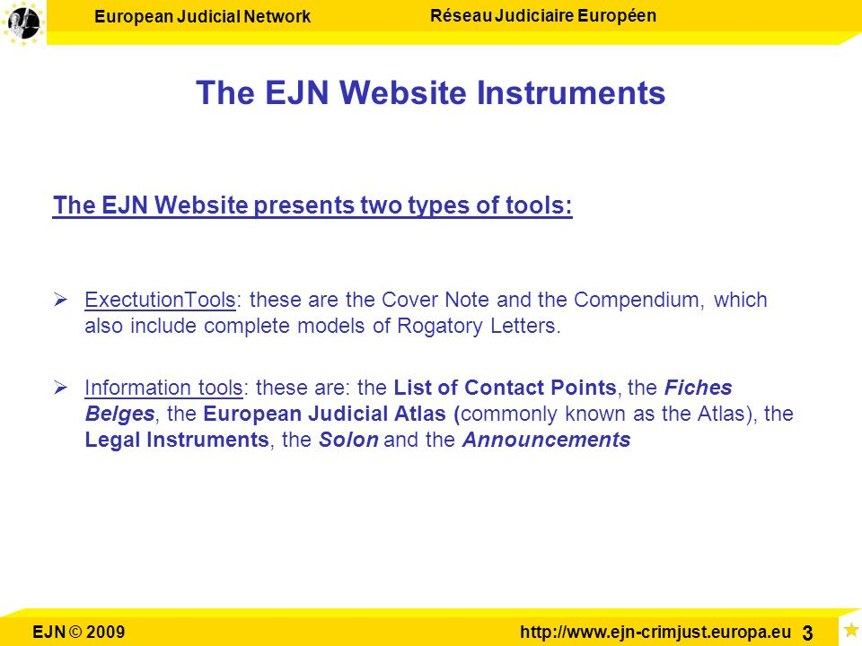 The EJN Website Instruments