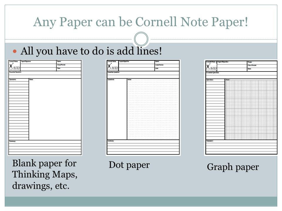 Cornell Notes Paper | Structured Note Taking For All Students Ppt Video Online Download