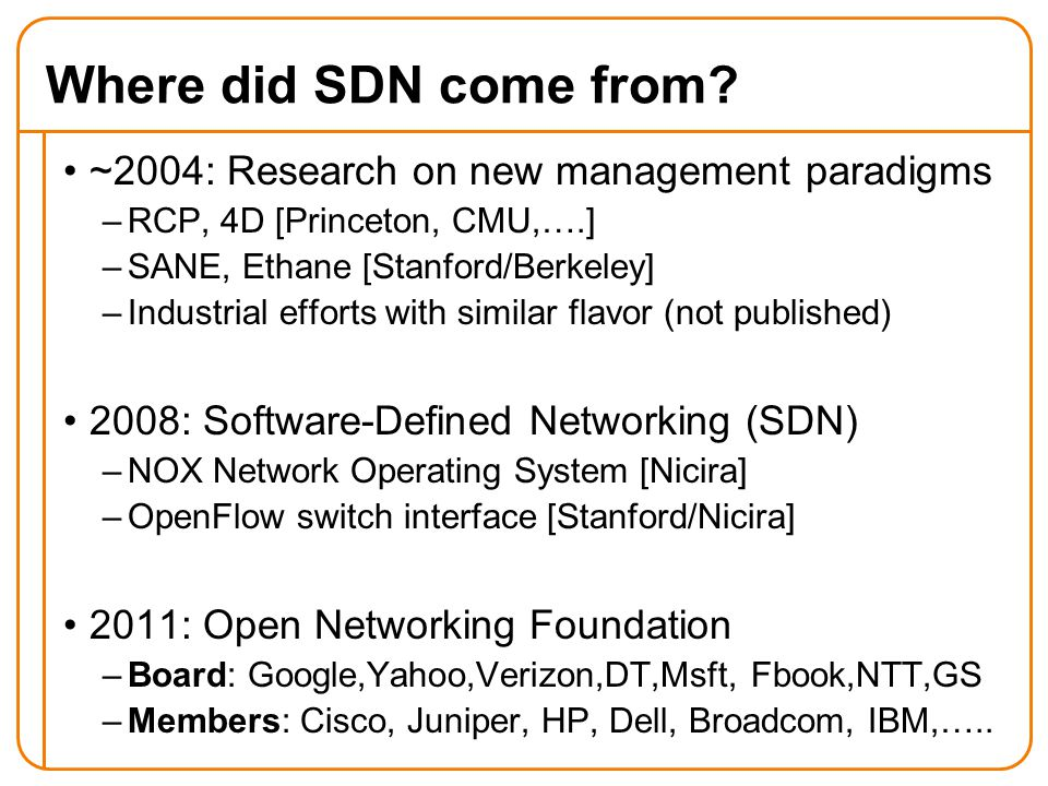 Network Management and Software-Defined Networking (SDN