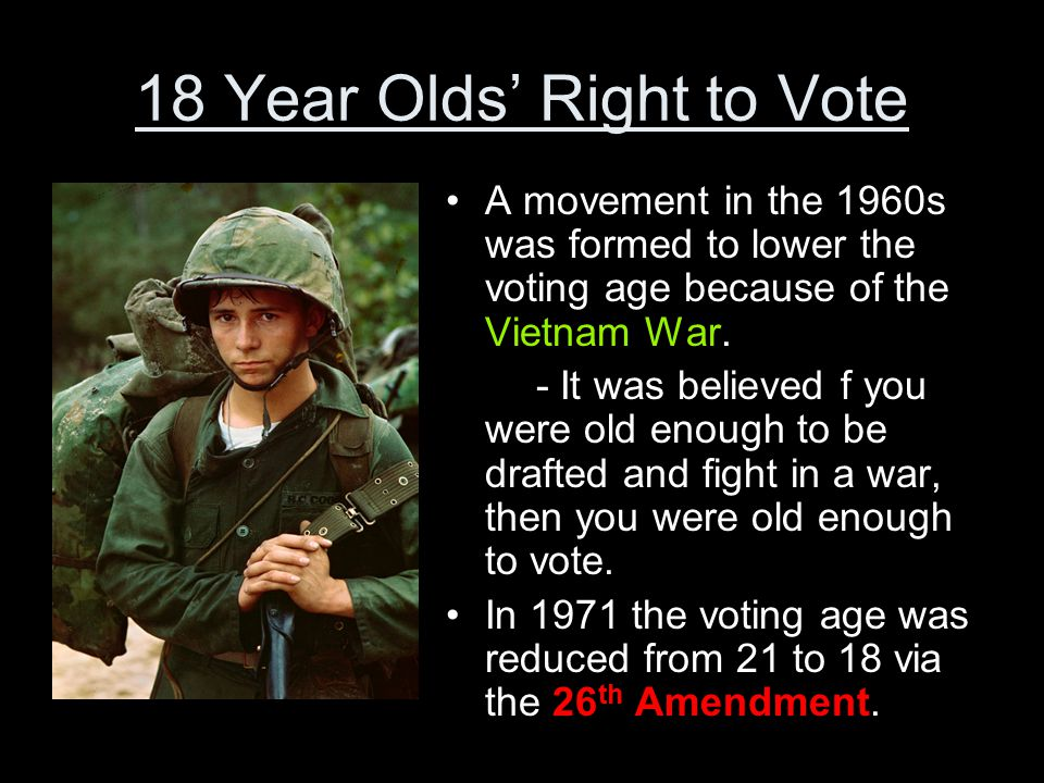 Image result for old enough to fight old enough to vote 1971