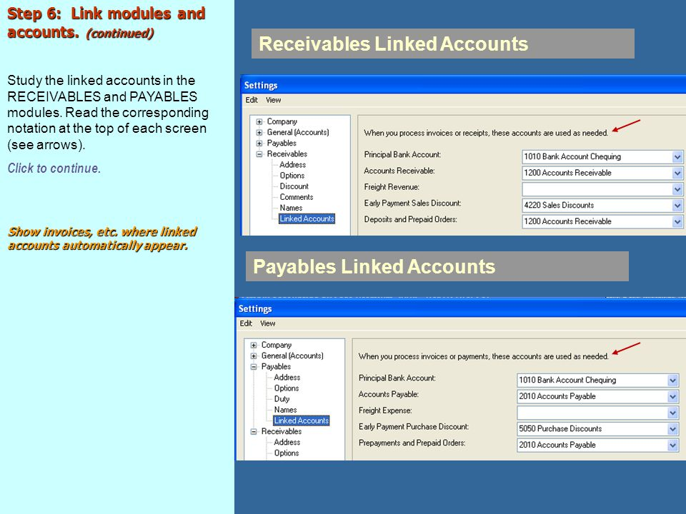 Receivables Linked Accounts