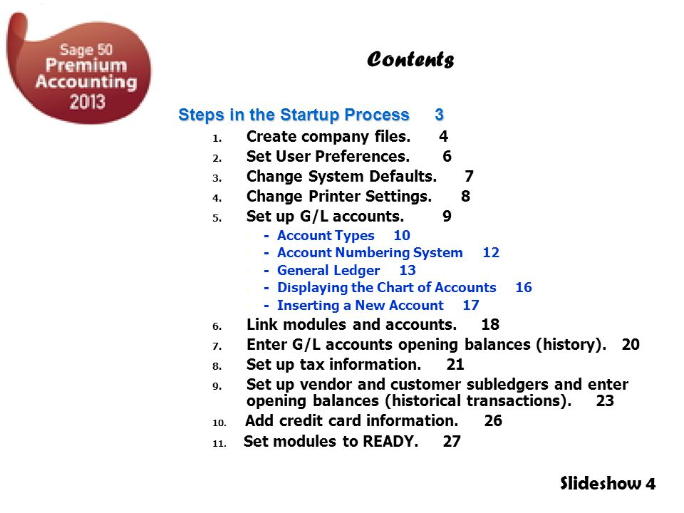 Contents Slideshow 4 Steps in the Startup Process 3