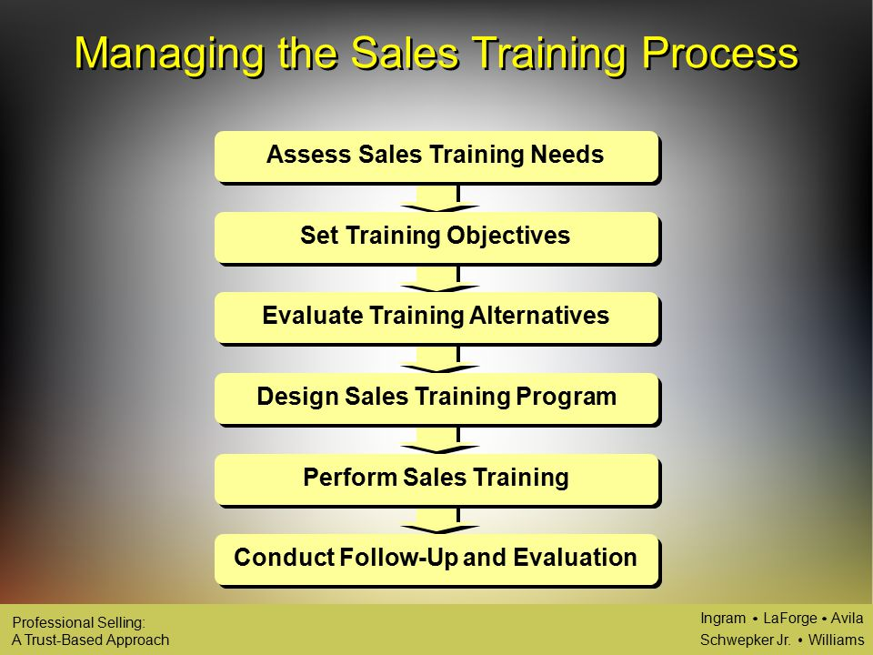 continual development of the sales force sales training ppt download
